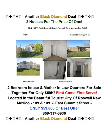 Image of rent to own home in Roswell, NM